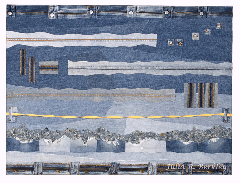 Durable Goods Abstract Denim Textile Collage